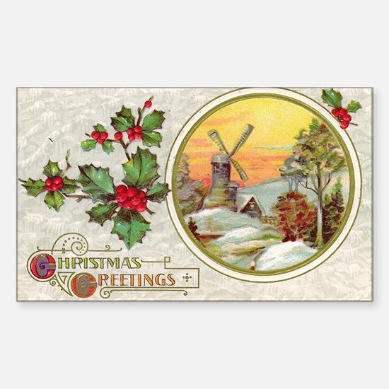 Dutch Christmas Rectangle Decal