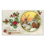 Dutch Christmas Rectangle Sticker 10 pk)