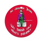 We Finish Each Other's Parables Round Ornament