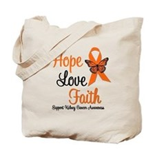 Kidney Cancer HopeLoveFaith Tote Bag