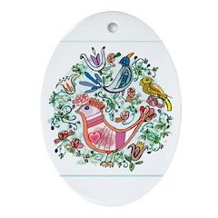 Flourishes Oval Ornament