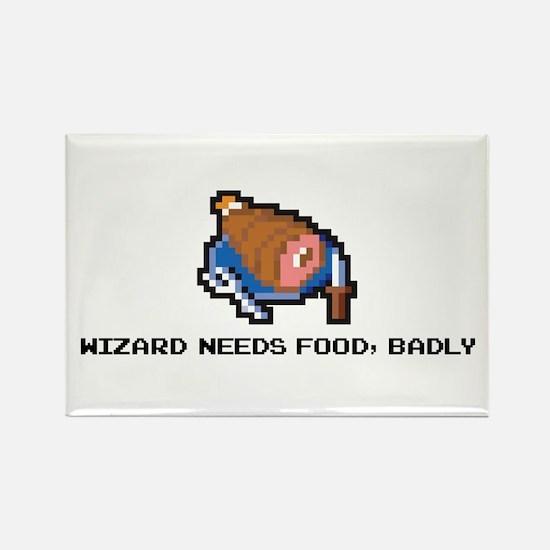 wizard needs food Rectangle Magnet