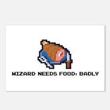wizard needs food Postcards (Package of 8)