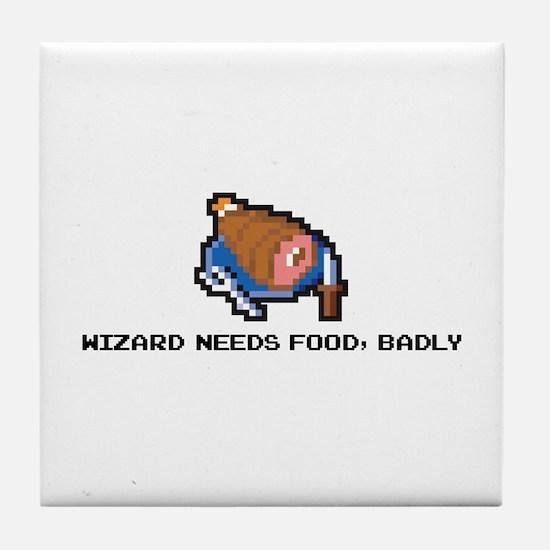 wizard needs food Tile Coaster