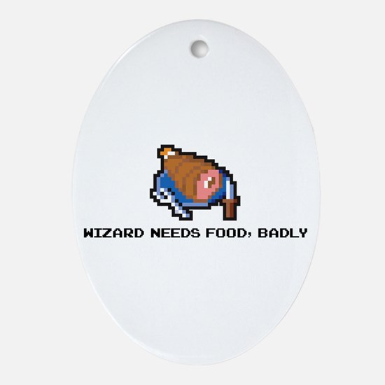 wizard needs food Oval Ornament