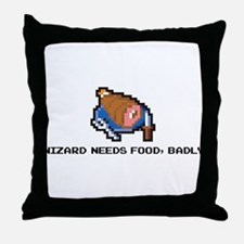 wizard needs food Throw Pillow