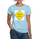 Dead End Sign Women's Pink T-Shirt