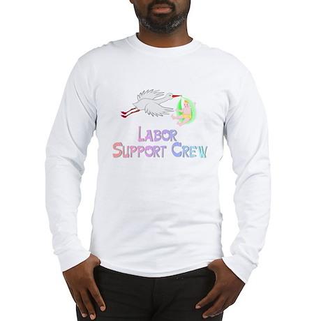 Labor Support Crew (Stork) Long Sleeve T-Shirt