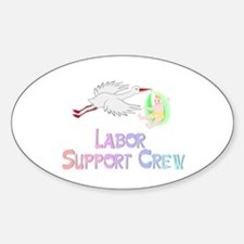 Labor Support Crew (Stork) Oval Decal