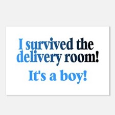 I Survived The Delivery Room (It's A Boy!) Postcar