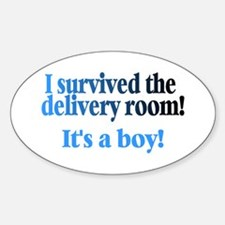 I Survived The Delivery Room (It's A Boy!) Decal