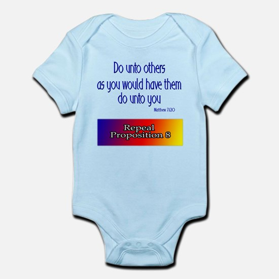Repeal Prop 8 Rainbow Infant Bodysuit
