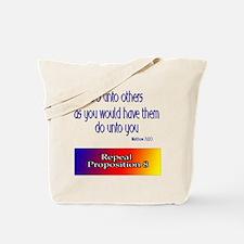 Repeal Prop 8 Rainbow Tote Bag