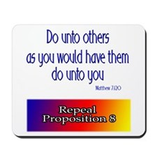 Repeal Prop 8 Rainbow Mousepad