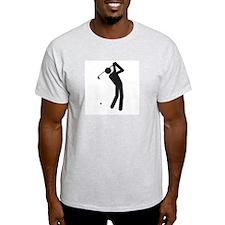 """Golfer"""" - Ash Grey T-Shirt"""