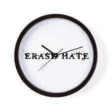 Erase Hate Wall Clock