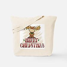 Merry Christmas Reindeer Tote Bag