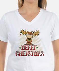 Merry Christmas Reindeer Shirt