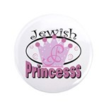 "Jewish Princess 3.5"" Button (100 pack)"
