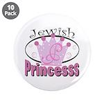 "Jewish Princess 3.5"" Button (10 pack)"