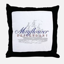Mayflower Descendant - Throw Pillow
