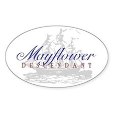 Mayflower Descendant - Oval Bumper Stickers