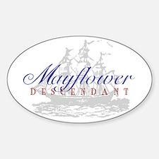Mayflower Descendant - Oval Decal