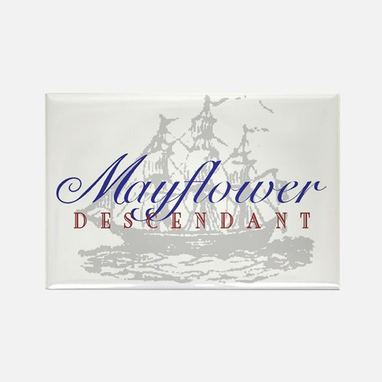 Mayflower Descendant - Rectangle Magnet