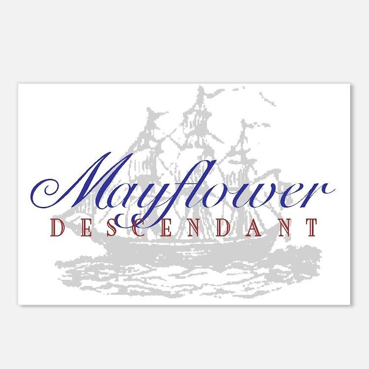 Mayflower Descendant - Postcards (Package of 8)