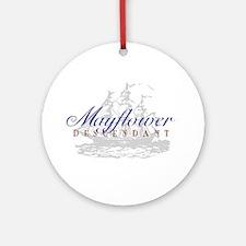 Mayflower Descendant - Ornament (Round)