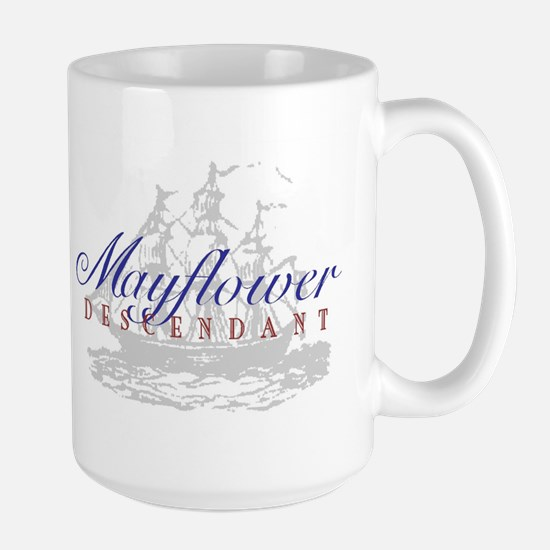 Mayflower Descendant - Large Mug