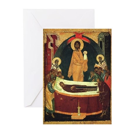 The Dormition Icon - Greeting Cards (Pk of 10)