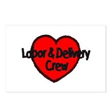 Labor & Delivery Crew (Heart) Postcards (Package o
