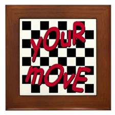 Your Move - Chess Board Framed Tile