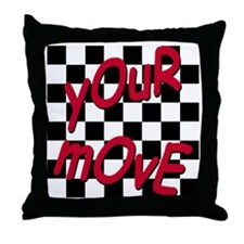 Your Move - Chess Board Throw Pillow