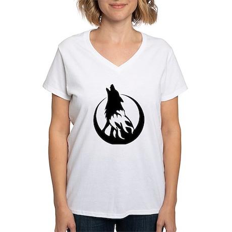 Wolfire Women's V-Neck T-Shirt