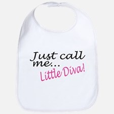 Just Call Me Little Diva Bib