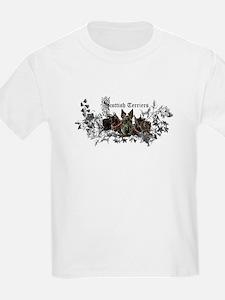 Scottish Terrier Floral T-Shirt