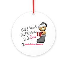 Bear In Stocking 1 Juvenile Diabetes Ornament (Rou