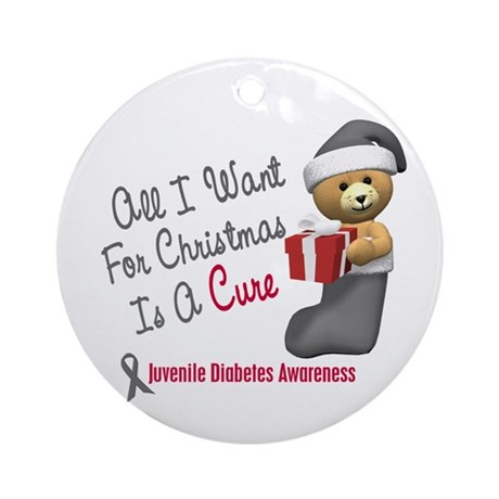Bear In Stocking 1 Juvenile Diabetes Ornament (Rou