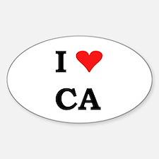 I Heart California Oval Decal