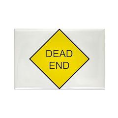 Dead End Sign Rectangle Magnet (10 pack)