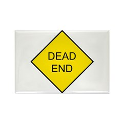 Dead End Sign Rectangle Magnet
