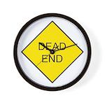 Dead End Sign Wall Clock