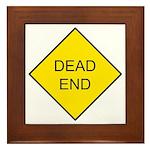 Dead End Sign Framed Tile