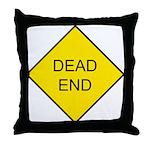 Dead End Sign Throw Pillow