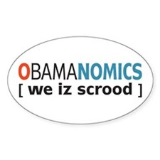 Anti - Obama Oval Sticker (10 pk)