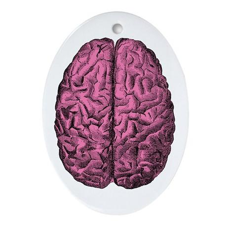 Human Anatomy Brain Oval Ornament