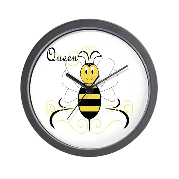 Smiling Bumble Bee Queen Bee Wall Clock By Mydeas