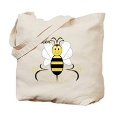 Smiling Bumble Bee Queen Bee Tote Bag